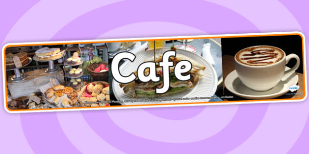 Cafe Photo Display Banner - café, photo display banner, photo, display, banner, photo banner, display banner, banner for display, café banner, header