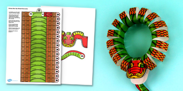 3d chinese new year dragon wreath decoration printable 3d chinese new year dragon