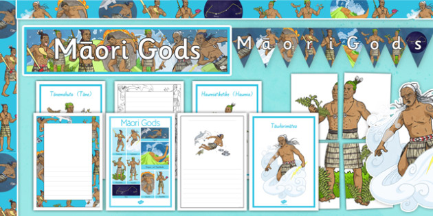 Māori Gods Colouring Sheets - nz, new zealand, Maori Gods