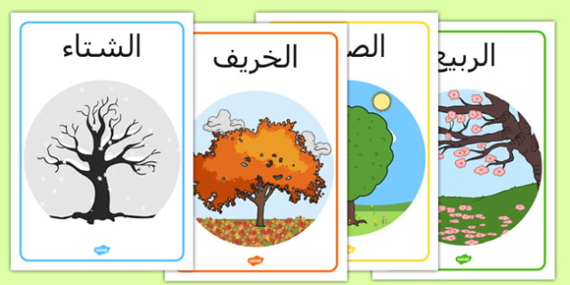 لوحات الفصول الأربعة - معلقات الفصور الأربعة ، ملصق، وسيلة