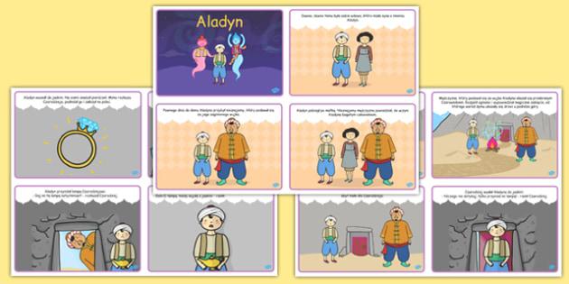 Aladyn (4szt. na A4) po polsku - bajki, baśnie