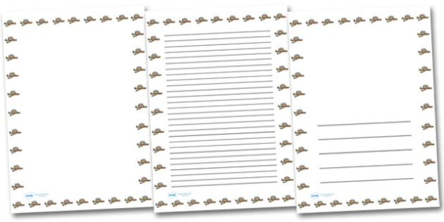 Nest Portrait Page Borders- Portrait Page Borders - Page border, border, writing template, writing aid, writing frame, a4 border, template, templates, landscape