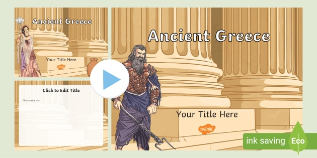 Ancient Greece Themed Powerpoint Template Twinkl