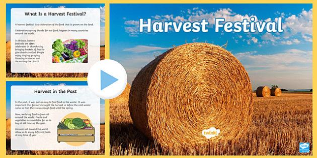Harvest Festival PowerPoint - harvest, autumn, seasons, festivals