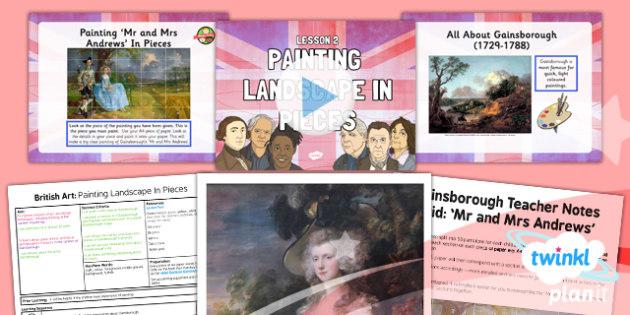 Art: British Art: Painting Landscape in Pieces LKS2 Lesson Pack 2