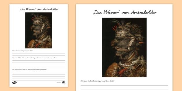NEW * Arcimboldo: Das Wasser Arbeitsblatt - Kunst, Malen