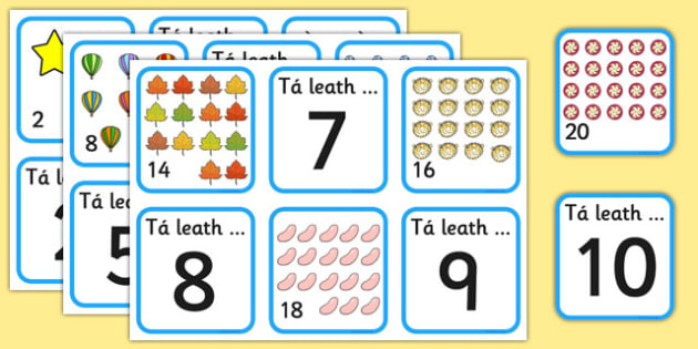 Halving Matching Jigsaw Cards Gaeilge - halving, maths, cards, flashcards, card, matching, activity, halves, numeracy, adding, multiplication, calculation, foundation numeracy