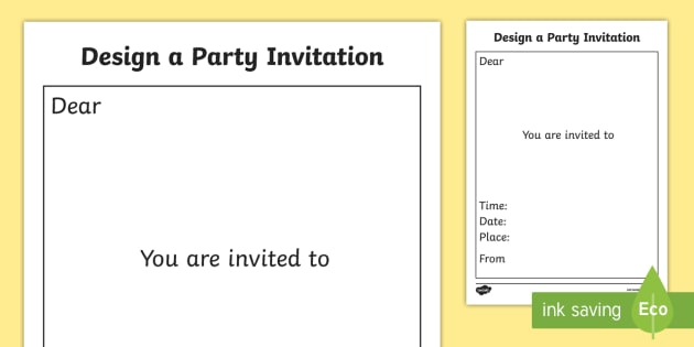 Design A Party Invitation Template Design Design A Party