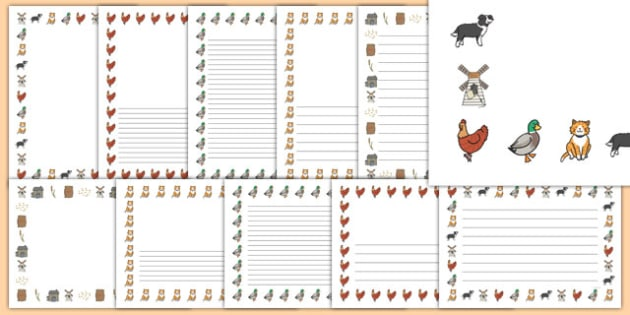 Little Red Hen Page Borders -  Little Red Hen, Traditional tales, page border, a4 border, template, writing aid, writing border, page template, tale, fairy tale, little red hen, cat, dog, horse, grain, wheat, flour, bread, no I, I will