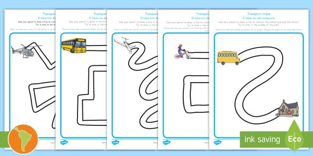 transport pencil control path worksheet activity sheets us. Black Bedroom Furniture Sets. Home Design Ideas