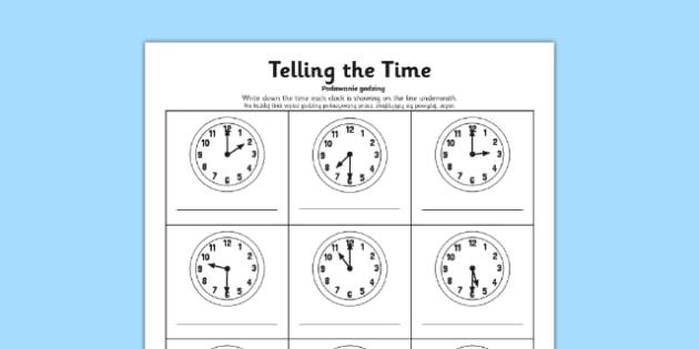 O'clock and Half Past Times Activity Sheet Polish Translation - polish, o'clock, half past, times, activity, worksheet
