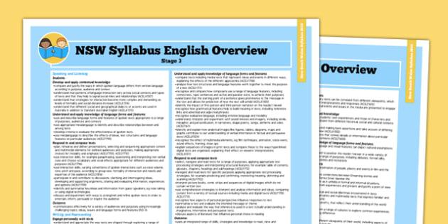 NSW Stage 3 English Syllabus Overview - australia, syllabus, nsw