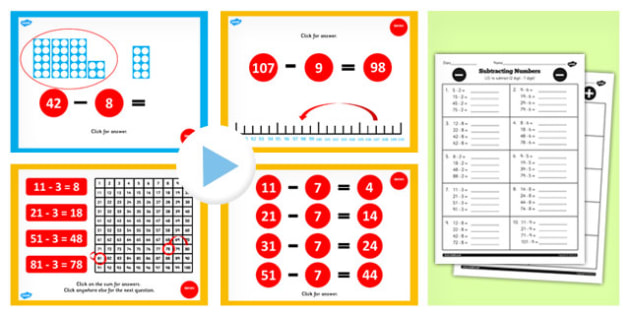 Year 2 Subtracting 2 Digit Numbers and Ones Crossing 10 Lesson
