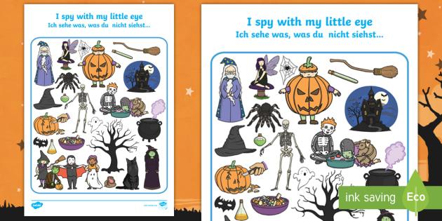 halloween themed i spy with my little eye worksheet activity. Black Bedroom Furniture Sets. Home Design Ideas