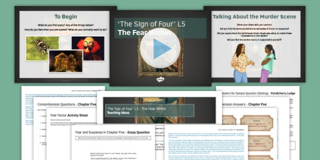 The Sign of Four Lesson Pack 5: The Fear Within - Sign of Four, Arthur Conan Doyle, Sherlock Holmes, AQA, GCSE, English Literature, Heritage Prose, Reading, Chapter Five