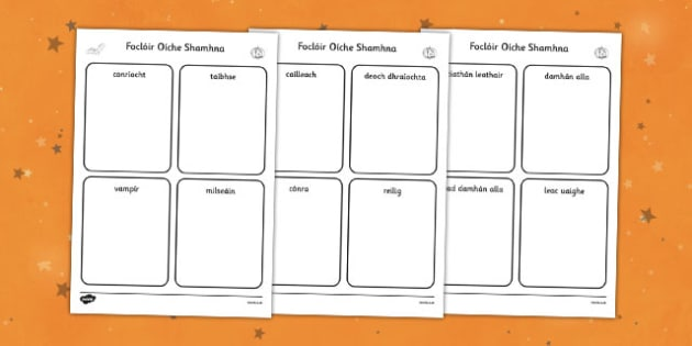 Irish Halloween Read and Draw Worksheet / Activity Sheet - roi, irish, republic of ireland, halloween, worksheet