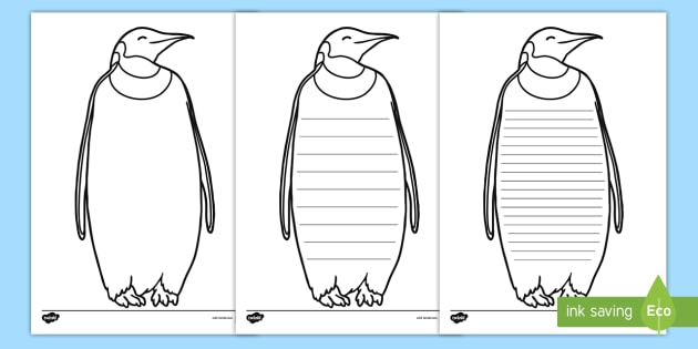 image about Penguin Template Printable referred to as Penguin Producing Template - penguin creating body, penguin