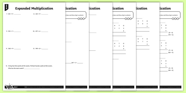 Expanded Multiplication Worksheet - Primary Resources