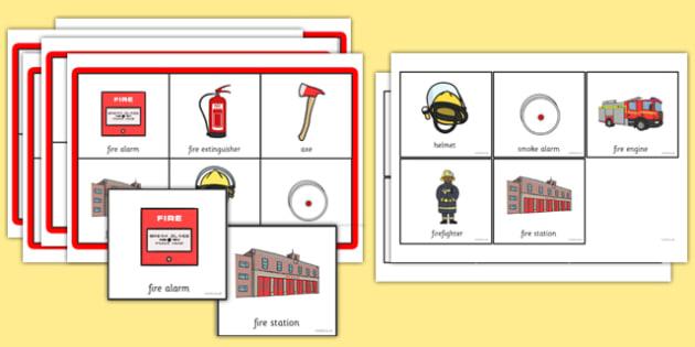 Fire Safety Themed Bingo - fire safety, themed, bingo, activity, game