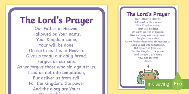 Free The Lord S Prayer Display Posters Teacher Made