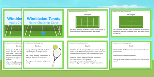 Wimbledon Maths Challenge Cards