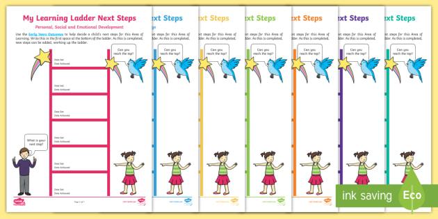 EYFS My Learning Ladders Next Steps Progress Sheets