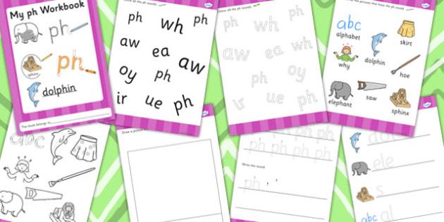 Phase 5 ph Grapheme Workbook - phase five, graphemes, literacy