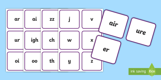 graphic relating to Phonics Flashcards Printable named Move 3 Flashcards Reduced