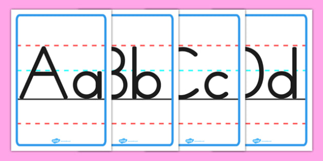 Upper-case and Lower-case Alphabet Posters - english, literacy, activities, letter, formation, home, school, australia