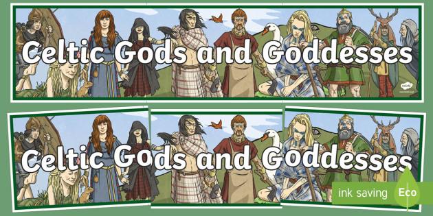 Celtic Gods and Goddesses Display Banner