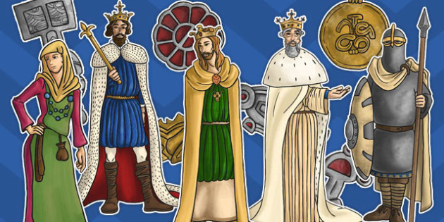 Anglo-Saxons Large Display Cut Out Pack - display, cut out, pack