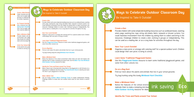 Outdoor Classroom Ideas Year 1 ~ Ks ways to celebrate outdoor classroom day key stage