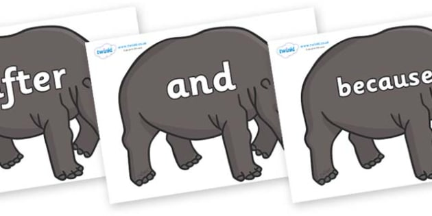 Connectives on Hippos - Connectives, VCOP, connective resources, connectives display words, connective displays