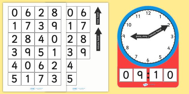 Analogue and Digital Clock Teaching Activity analogue digital