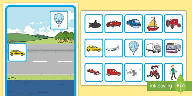 Transport Sorting Activity Activity Game Fun
