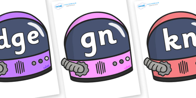 Silent Letters on Astronaut Helmets - Silent Letters, silent letter, letter blend, consonant, consonants, digraph, trigraph, A-Z letters, literacy, alphabet, letters, alternative sounds