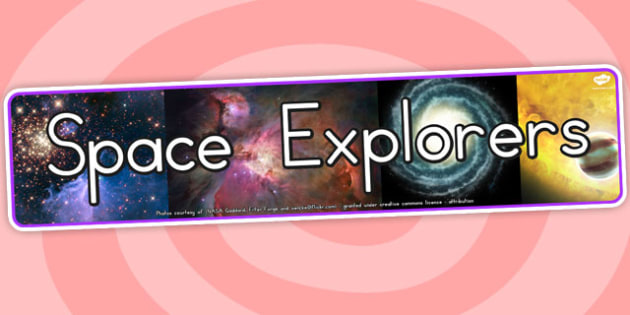 Space Explorers Photo Display Banner - Displays, Banners, Photo