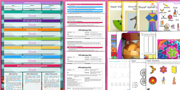 EYFS Diwali Lesson Plan Enhancement Ideas and Resources Pack - eyfs, diwali, lesson plan, enhancement, pack, planning