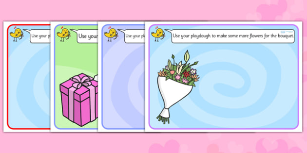 Valentine's Day Playdough Mats - valentines day, fine motor skills