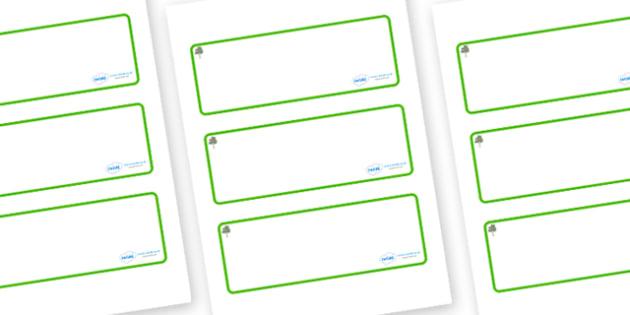 Eucalyptus Themed Editable Drawer-Peg-Name Labels (Blank) - Themed Classroom Label Templates, Resource Labels, Name Labels, Editable Labels, Drawer Labels, Coat Peg Labels, Peg Label, KS1 Labels, Foundation Labels, Foundation Stage Labels, Teaching L