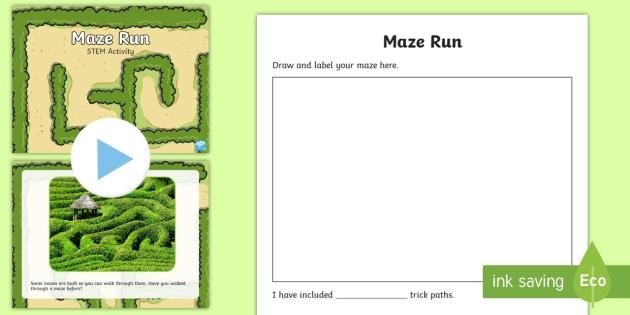 Maze Run STEM PowerPoint - STEM, Maze, Chemical, Physical, Design