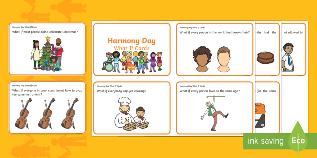 harmony day what if cards harmony day diversity uniqueness multicultural difference