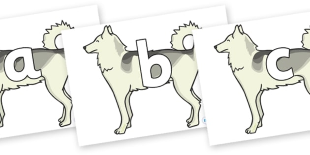 Phoneme Set on Huskies - Phoneme set, phonemes, phoneme, Letters and Sounds, DfES, display, Phase 1, Phase 2, Phase 3, Phase 5, Foundation, Literacy