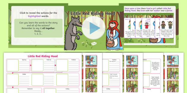 Little Red Riding Hood Story Map Activity Pack