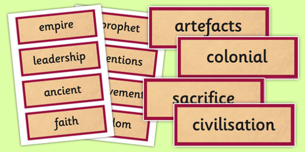 History AD 900 Vocabulary Cards - history, ad900, ad, 900, vocabulary, cards