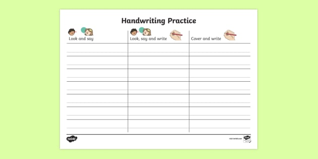 ks1 key words handwriting practice worksheet activity sheet. Black Bedroom Furniture Sets. Home Design Ideas