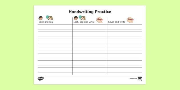 KS1 Key Words Handwriting Practice Worksheet / Worksheet ...