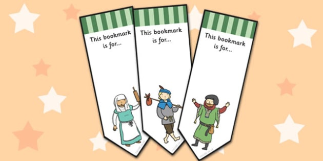 Dick Whittington Editable Bookmarks - Bookmarking, editable, book