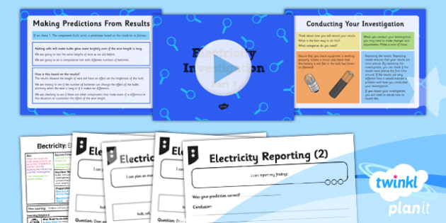 Science: Electricity: Electricity Investigation Part 3 Year 6 Lesson Pack 6