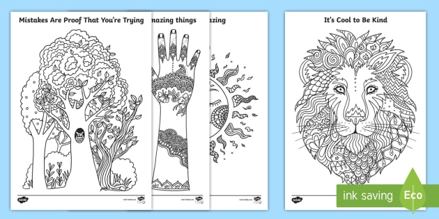 Inspirational Mindfulness Colouring Pages Irish